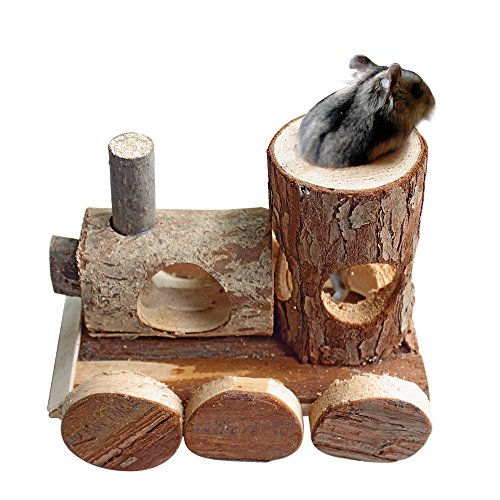 B&P Natural Wood Hamster Toys No Metal Design Can be