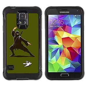 ZAKO Cases / Samsung Galaxy S5 SM-G900 / Bird Ninja / Robusto Prueba de choques Caso Billetera cubierta Shell Armor Funda Case Cover Slim Armor