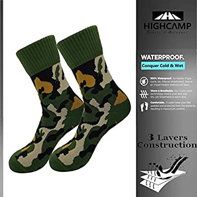 100% Waterproof Breathable Socks Men & Women Outdoor Sports Crew Socks for Trekking Cycling Running Hiking Boots: Clothing