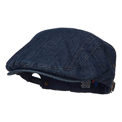 MG Washed Denim Ivy Cap - Denim Navy - Denim Cap Ivy