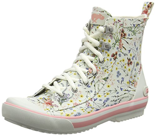 Rocket Dog Rainy - Botas de agua Mujer Off-White (Meadow Lane White)