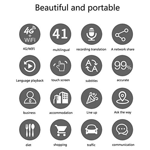 Window-pick Smart Voice Translator Device 4G WiFi Two Way Real Time Instant Language Translator Handheld Support 16 Languages for Learning Travel Shopping Business Black by Window-pick (Image #7)
