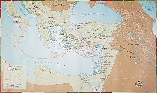 Abingdon Bible Land Map--The Roman World and Paul's Journeys