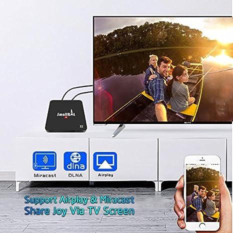 Amazon com: Android TV Box, SMALLRT X2 Smart Android 7 1 Box