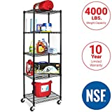 Seville Classics UltraDurable Commercial-Grade Pull-Out Sliding Steel Wire Cabinet Organizer Drawer, 14' W x 17.75' D x 6.3' H
