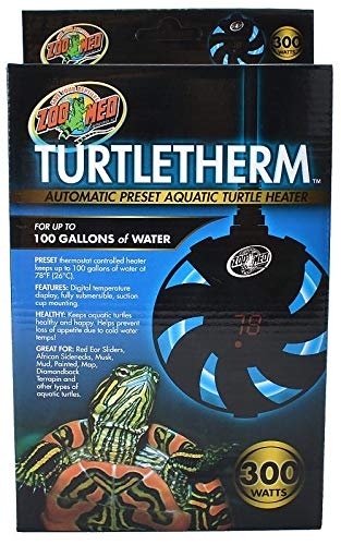 Zoo Med Turtletherm Automatic Preset Aquatic Turtle Heater, 300 Watt, Up To 100 Gallons  by Zoo Med