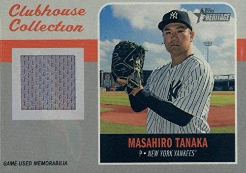 2019 Topps Heritage Clubhouse Collection Relics #CCR-MT Masahiro Tanaka MEM Yankees Baseball MLB from Heritage Products