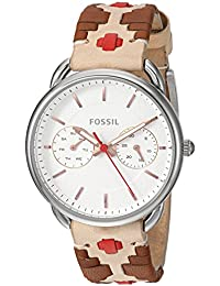 Fossil Women's ES4226 Tailor Multifunction Multi-Colored Leather Watch