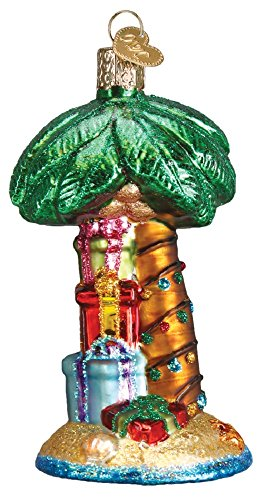 Decorated Palm Tree Glass Ornament 48037 Beach
