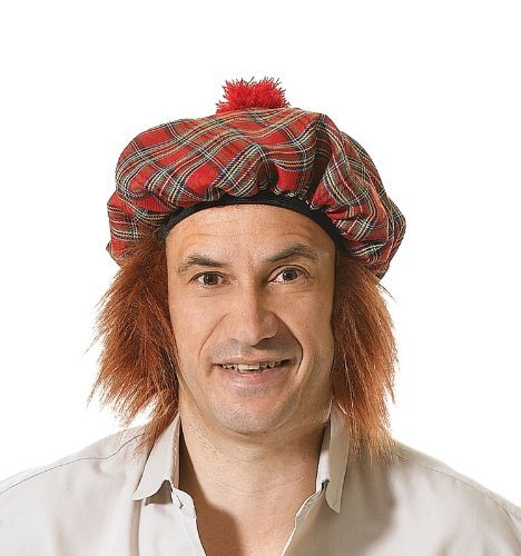 Tartan Scots Hat With Ginger Hair by Bristol - Mall Bristol Stores
