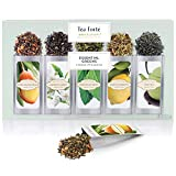 Tea Forté SINGLE STEEPS Essential Greens Organic Green Tea Loose Leaf...