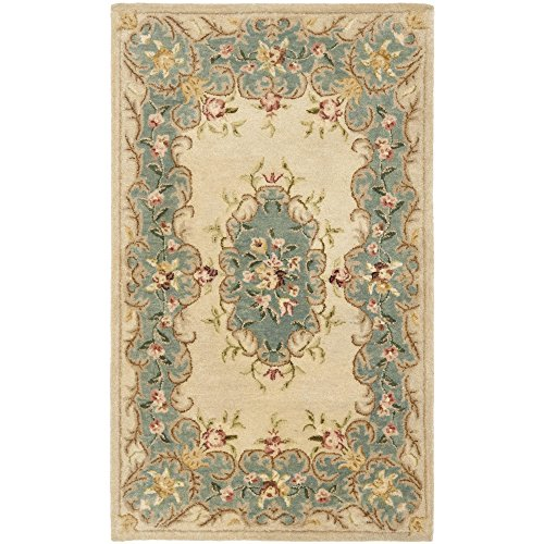 Safavieh Bergama Collection BRG166A Handmade Ivory and Light Blue Premium Wool Area Rug (3' x 5') 5 Bergama Rectangle Rug
