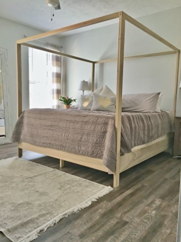 Bed Country Poster French - King Canopy Bed Frame