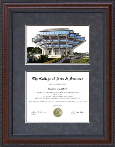 Amazon.com : Diploma Frame with Licensed UC San Diego (UCSD) Campus ...