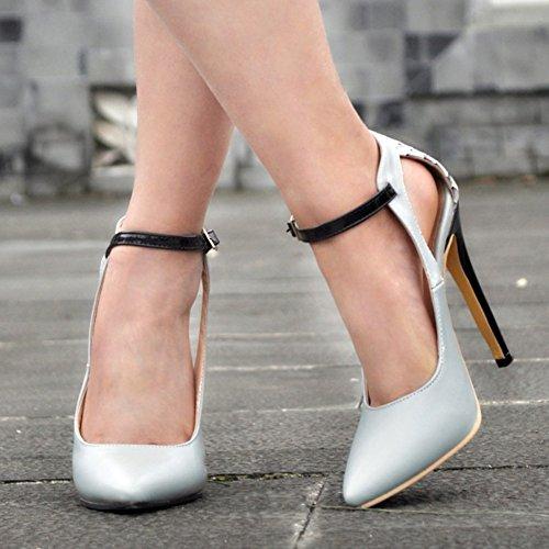 Kolnoo - Pantuflas de caña alta Mujer gris