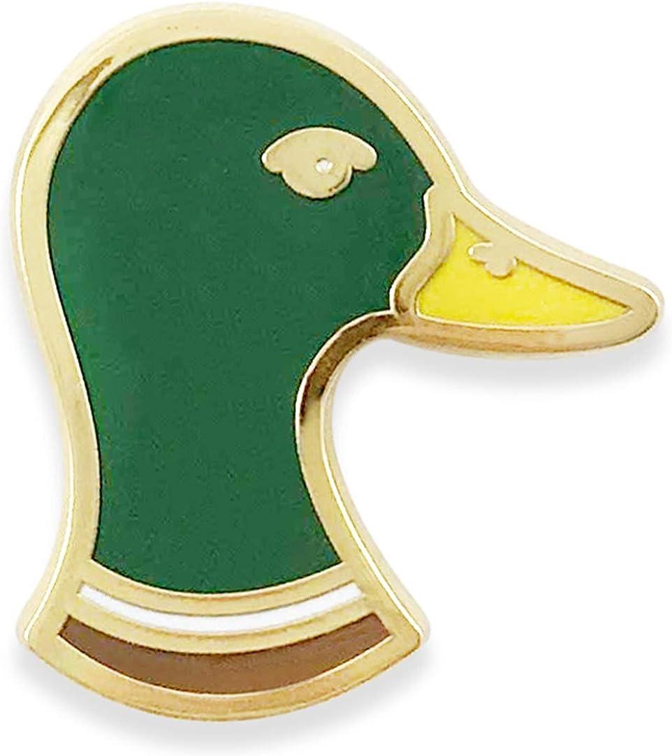 Small Duck Head Hard Enamel B Grade with Minor Flaws Mallard Lapel Pin Dorrarium Mr
