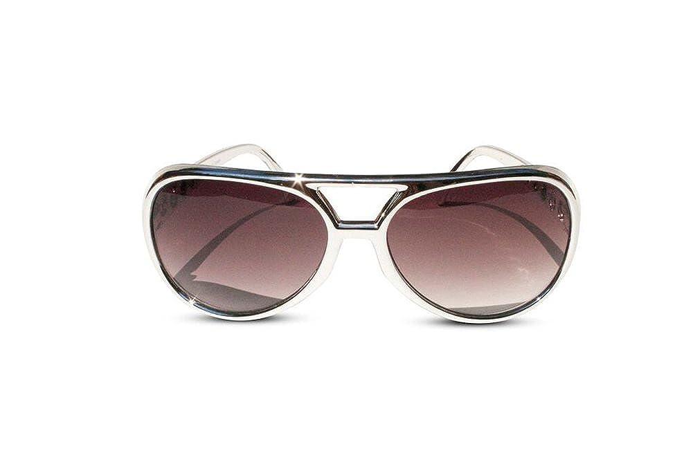 2560e1707f94 Amazon.com  The King of Rock and Roll Elvis Presley Large Las Vegas Costume  Sunglasses (Gold