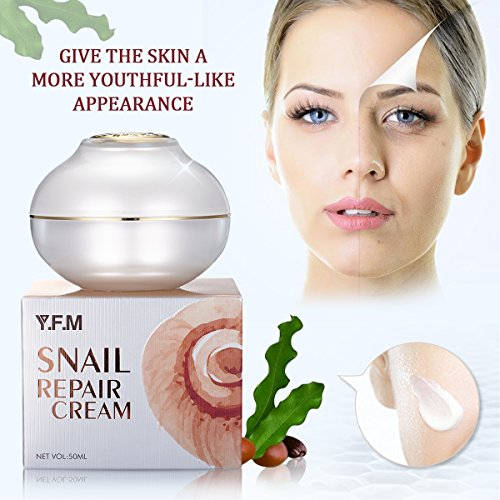 Snail Face Cream, LuckyFine Anti Aging, Anti Wrinkle, Day Cream & Night Cream, for Moisturizer Dry Skin Repair Fine Lines Snail Face Cream with Snail Extract 1.76 oz