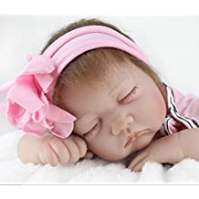 AMPretty Lifelike Reborn Baby Dolls Soft Silicone 22inch Real Girl/Boy Baby Dolls Lovely Christmas Gift For Ages 3+