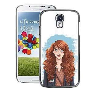 A-type Arte & diseño plástico duro Fundas Cover Cubre Hard Case Cover para Samsung Galaxy S4 (Smart Redhead Girl Fashion Woman'S Rights)