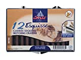 Conte Crayon in Plastic Box, 1/4 X 1/4 X 2-1/2 in, Bistre Sepia, Pack of 12