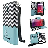 Alcatel One Touch Fierce XL Case (T-Mobile MetroPCS), Customerfirst PU Leather Luxury Flip Design Wallet Pouch Phone Case For Alcatel 5.5