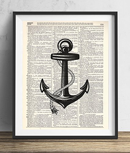 Black-Anchor-Upcycled-Vintage-Dictionary-Art-Print-8x10
