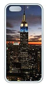 iPhone 5 5S Case Empire state building TPU Custom iPhone 5 5S Case Cover White