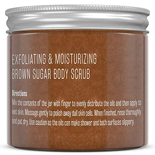 M3 Naturals Brown Sugar Body Scrub Souffle Infused with Collagen & Stem Cell – Best Exfoliating Body & Face Scrub for…