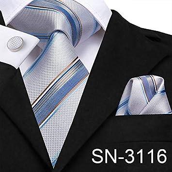 LUHELDM Pink Blue Plaid Tie Gemelos Establece Lazos de Seda de los ...
