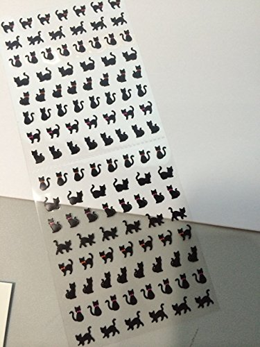 Black Cat Kitty Kitten Sexy Cute Kawaii Japanese Korean Style Diary Planner Teacher Stickers (106 Stickers)