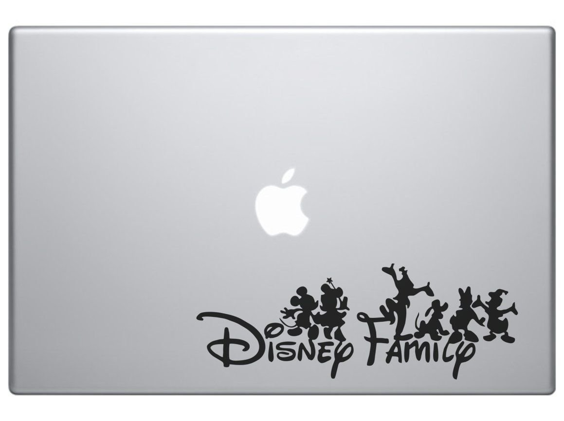 Amazon com la decal disney family mickey and friends car truck suv laptop decal sticker 6 black kitchen dining