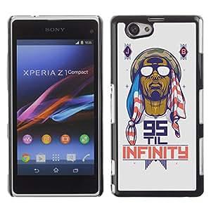 iKiki-Tech Estuche rígido para Sony Xperia Z1 Mini - Cool Retro 95 Til Infinity