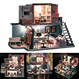 DIY Wooden Cottage Sweet Doll House WoodenManualAssemblyVilla Decoration with Music City of Sky Holiday Birthday Gift