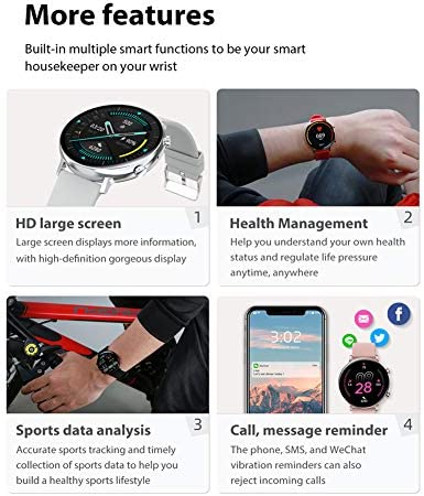 Smart Watch for Women Men with Call Function, Information Reminder Heart Rate Blood Pressure, Waterproof Bluetooth Pedometer with Sleep Monitor, Fitness Tracker Smartwatch for Android iOS Phones 51AEFqpHr8L