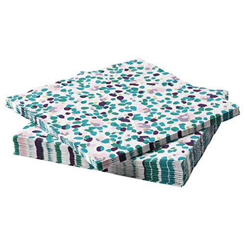 TACKSAMHET Paper napkin patterned multicolour