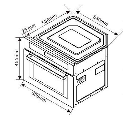 Microondas con Forno y Grill (60cm, 2.6kW, 40L, Autárquico ...