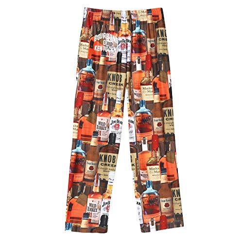 American Mills Men's Bourbons of Kentucky Lounge Pants - Adult Pajama Bottoms - Large Brown