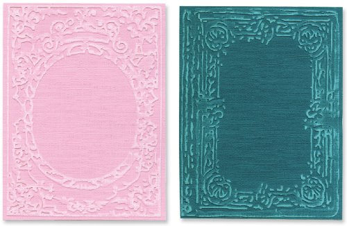- Sizzix Texture Fades A2 Embossing Folders 2/Pkg-Book Covers By Tim Holtz