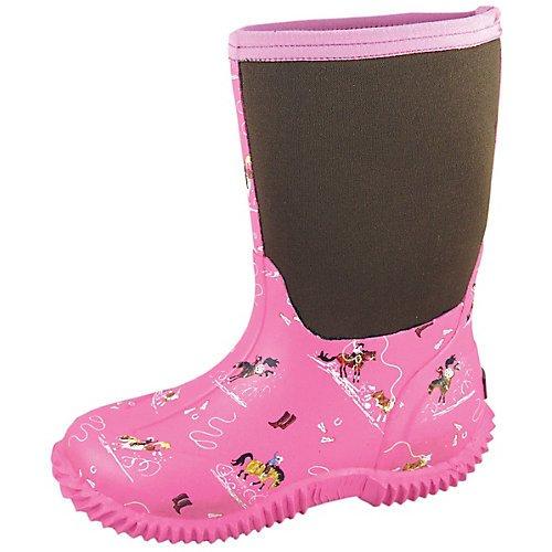 Smoky Mountain Toddler Boys Fireman Black/Yellow Rubber Chore Boots 8 D