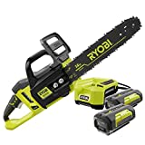 Ryobi RY40511 14 in. 40-Volt Lithium-ion Cordless Electric Chainsaw Kit (2 40-Volt Batteries and 1 Charger) ZRRY40511 (Certified Refurbished)