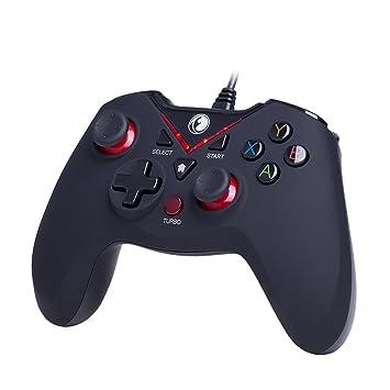 Mando IFYOO V-one con cable USB para PC (Windows XP/7/8/10) PlayStation 3, Android y Steam. Color rojo y negro: Amazon.es: Electrónica