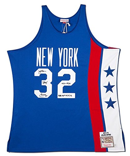 - JULIUS ERVING Autographed/Inscribed NY Nets 1975 Authentic Jersey UDA LE 32