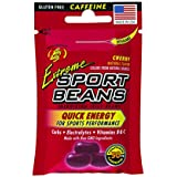 Jelly Belly Extreme Sport Beans, Caffeinated Jelly Beans, Cherry Flavor, 24 Pack, 1-oz Each