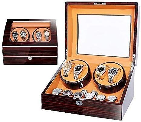 LNDDP Enrollador automático Reloj cuádruple Madera, 5 Cajas Almacenamiento Temporizador Modo para 4 Relojes Función para Relojes Colección Pulsera joyería: Amazon.es: Deportes y aire libre