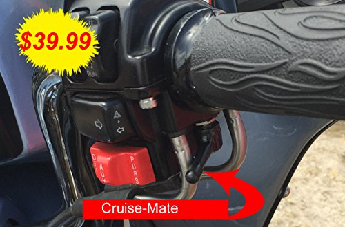 Cruise-Mate 2004-BLK-FBA - Black Throttle Assist for Harley-Davidson Motorcycles 1996 - Present, (Except 2014 + Touring Models Road King, Road Glide, Street Glide, Electra Glide) ()