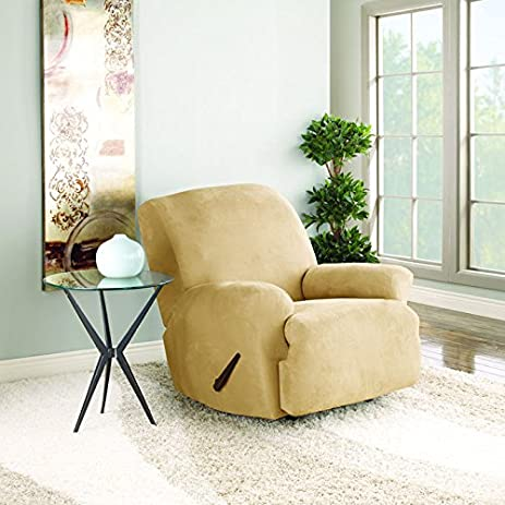 Sure Fit Stretch Suede - Recliner Slipcover - Camel (SF37598) & Amazon.com: Sure Fit Stretch Suede - Recliner Slipcover - Camel ... islam-shia.org
