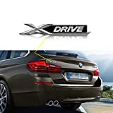Xotic Tech 1x Black X Drive Car Trunk Lid Fender Body Emblem Sticker For BMW X1 X3 X5 X6 (Black)