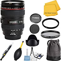 Canon EF 24-105mm f/4 L IS USM (White Box Packaging) 33rd Street Lens Bundle for Canon EOS DSLR Cameras
