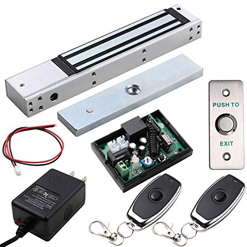 UHPPOTE Access Control Outswinging Door 600lbs Force Electromagnetic Lock & Remote Control Kit, Maglock with UL Listed